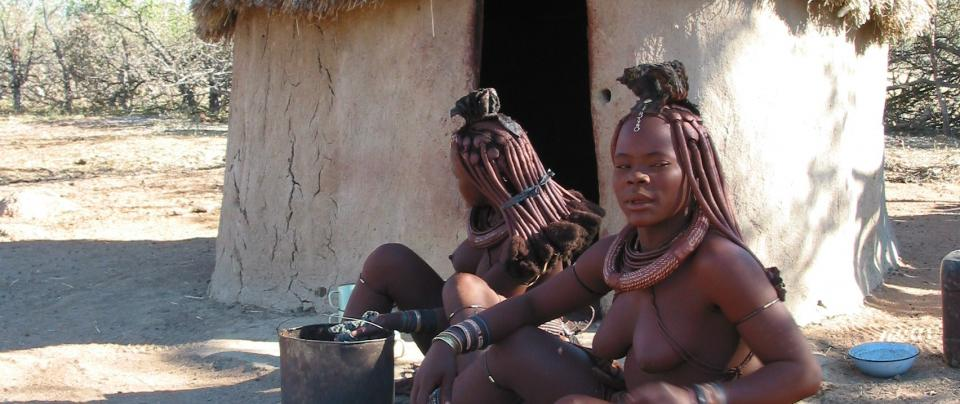 Himba-stam in Namibie